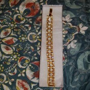 Gold 24k plated bling fashion bracelet 20oz